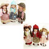 Кукла фарфор в платьях винтаж 30см п/у