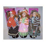 Кукла фарфор в платьях винтаж 40см в ассортименте п/у