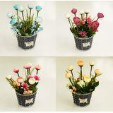 Цветы в плетеной корзине Nature 28*20см