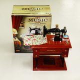 Швейная машина муз. шкатулка механическая (все двигается) 17*10*20 см