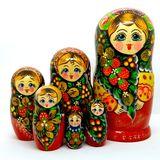 Матрешка авторская дерево (Россия) 210*d100мм 7 кукол