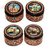 Шкатулка керамическая с узорами Иркутск в ассортименте 13*8 см
