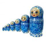Матрешка авторская дерево (Россия) 210*d110мм 7 кукол гжель