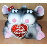 Копилка мышки пара Любим денежки 23 см. (керамика)