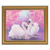 Картина Два лебедя багет (20х25 см)