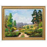 Картина Мостик через речку багет №4 (30х40 см) ПИ15