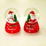Шар стекло со снегом Christmas, с подсветкой и музыкой 13*9 см