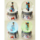 Шар стекло со снегом Romantic с подсветкой и музыкой (метель, несколько мелодий !) 16*10 см