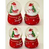 Шар стекло со снегом Christmas механизм с музыкой 15*11 см
