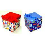 Коробка подарочная с лентой 22*22*22 см Шарики, подарки XY-532 (2вида) (1уп-6шт)1шт