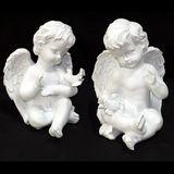Ангел полист. белый с голубем (2 вида) 22*15*15 см