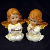 Ангел полист.gold wings с книгой/молится 17*14*10 см