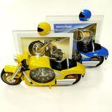 Рамка пластик д/ф 10*15см +часы Мотоцикл 27*22*6 см