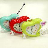 Часы с будильником Сердце c фоторамкой с отделом под ручку б/б 24*16*5.5 см