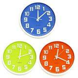 Часы настенные classic colour (крупные цыфры 3D, плавный ход) б/б d-30 см