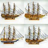 Парусник дерево wooden sailboat (4 вида) 45*38*8 см п/у