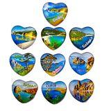 Магнит линза сердце Байкал 5*5см (1уп-10шт) 1шт