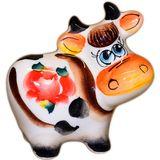 Коровка фарфоровая цветная 7.5 см