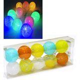 Ночник на батарейках Гирлянда из 10-и шаров (пластик,хлопок) d шара-6 см цветные (2АА)б/б