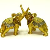 Слон полистоун Золотой хобот  17*17*8 см