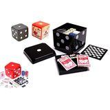 Набор игр 6в1в игральном кубе 15*15*15 см (шахматы,шашки,нарды,домино,кости,покер)