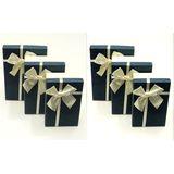 Н-р коробок прямоугольные 3в1 (бежевые,темно-синие) 23*16*9.5/21*14*8/19*12*6.5 см