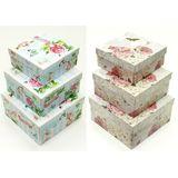Н-р коробок квадратные 3в1 (Provance rose) 19*19*9.5/17*17*8/15*15*6.5 см