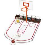 Игра настольная Баскетбол (6 рюмок) пластик+стекло 24*30*21 см