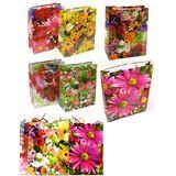 Пакеты подарочные Цветы ассорти D-1915-1 УПАКОВКА 12шт (1шт=12р, 12*15*6 см)