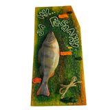 Панно Рыба муляж с держателем Ну за рыбалку Окунь 44*21 см цвет