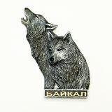 Магнит полистоун Байкал Волк с волчицей 9*7 см
