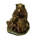 Статуэтка полистоун Медведица с медвежатами Байкал 10*8.5*10 см