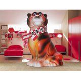 Копилка керамическая Тигр в шарфе Лови позитив 21*14 см