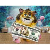 Копилка керамическая Тигр с деньгами К деньгам 21*14 см