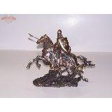 Всадник Рыцарь с копьем на лошади 30х24 см
