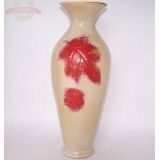 Ваза керамика глазурь Кленовый лист 36см