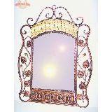 Зеркало ротанг+металл большое 68х52 см