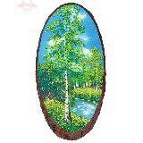Панно на срезе дерева 30-35 см
