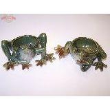 Кашпо с лягушкой (сидячая) 21х10х15см керамика глазур.