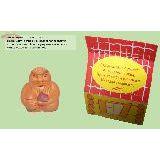 Оберег Старец керамика 4см с натуральным камнем Авантюрин