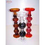 Подсвечник стекло 35-39см red/brown/black (1уп-2шт)1шт