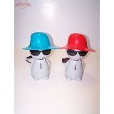 Светильник 220В -копилка Человек в шляпе в очках с сигаретой (4 цвета)