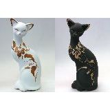 Кошка ушастая роспись керамика 21см