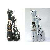 Коты малые love керамика 2 ШТ Кот 18см и кошка 15см