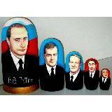 Матрешка Политические деятели 5мест 17 см