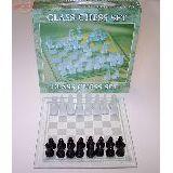Шахматы стекло на стеклянной доске 22*22см