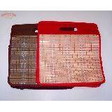 Сумка хозяйственная плетеная на молнии бамбук/ткань  42*37 см