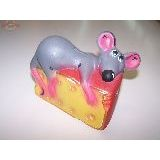 Копилка Мышь на сыре керамика 15*10см