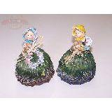 Девушка-цветочница с венком/вазой полист.  13*9см