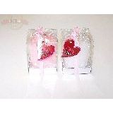 Свеча подарочная white/pink 11*8*8 см (1уп-12шт)1шт